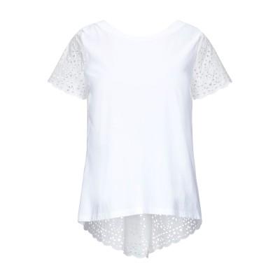 セミクチュール SEMICOUTURE T シャツ ホワイト 44 コットン 100% T シャツ