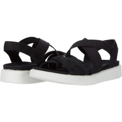 エコー ECCO レディース サンダル・ミュール シューズ・靴 Flowt Elastic Sandal Black Cow Nubuck