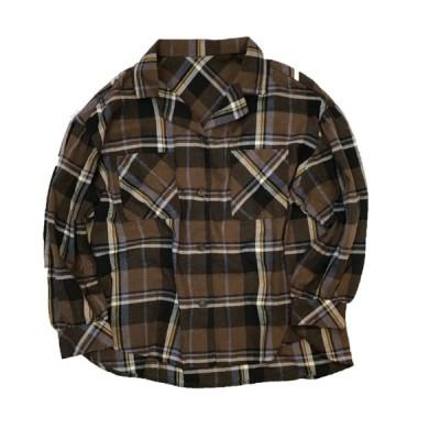 Flannel check blouse フランネルチェックブラウス