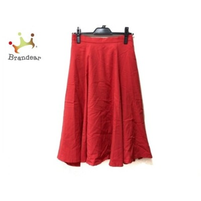 ジャスグリッティー JUSGLITTY ロングスカート サイズ2 M レディース レッド   スペシャル特価 20200620