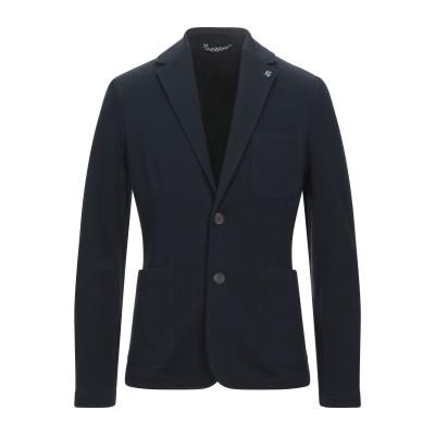 GARCIA テーラードジャケット ダークブルー XXL コットン 56% / ポリエステル 37% / ポリウレタン 7% テーラードジャケット