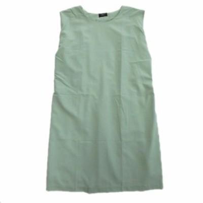 【中古】美品 アーバンリサーチ ドアーズ URBAN RESEARCH DOORS ワイド ノースリーブ ワンピース スカート 緑♪11
