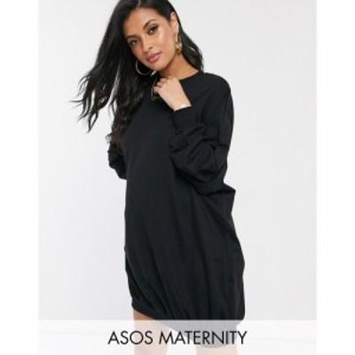 エイソス ASOS Maternity レディース ワンピース マタニティウェア ワンピース・ドレス Asos Design Maternity Oversized Sweat Dress ブ