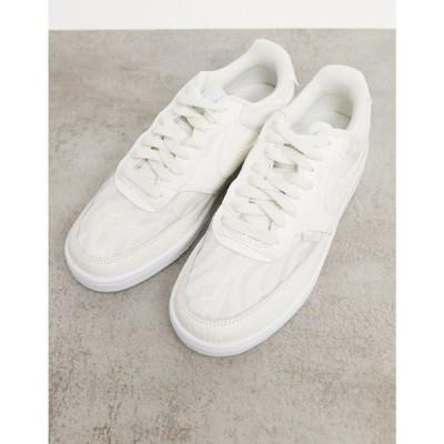 ナイキ Nike レディース スニーカー シューズ・靴 Court Vision Low Premium Trainers In Sail White & Aura
