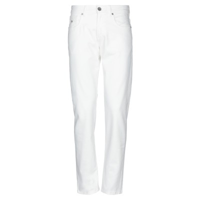 AZUMA パンツ ホワイト 48 コットン 97% / ポリウレタン 3% パンツ
