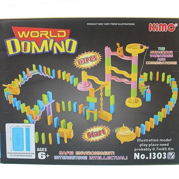 多米諾骨牌 NO.1303 益智骨牌 約113片入/一盒入(促300) 積木骨牌 塑料骨牌秀玩具組-CF125644
