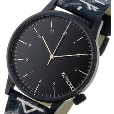 腕時計 メンズ コモノ KOMONO Winston Rune-Black クオーツ KOM-W2160 ブラック ブラック