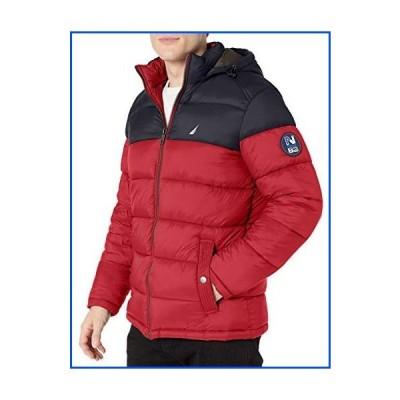 【新品】Nautica メンズ ナイロンパファージャケット US サイズ: X-Large カラー: レッド【並行輸入品】