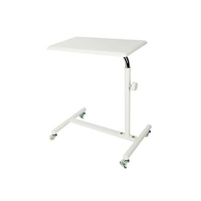 サイドテーブル キャスター付き 高さ調節 ホワイト 幅55.5×奥行38.5×高さ64.5〜88cm [ ネイルテーブル ネイルデス?