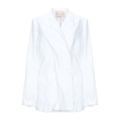 エリカ カヴァリーニ ERIKA CAVALLINI テーラードジャケット ホワイト 40 コットン 100% テーラードジャケット