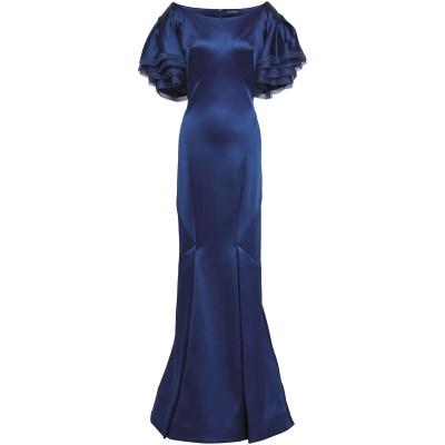 ZAC POSEN ロングワンピース&ドレス ブルー 10 アセテート 48% / ナイロン 45% / ポリウレタン 7% ロングワンピース&ドレス