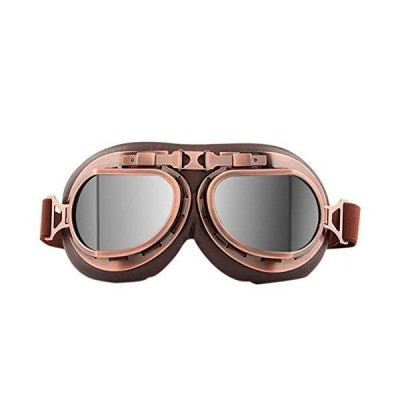 YUI Motorcycle Goggles Vintage Style Scooter Goggle Outdoor Sand Goggles Bike Racer Cruiser Touring Eyewear for Half Helmet Suitable for Adu