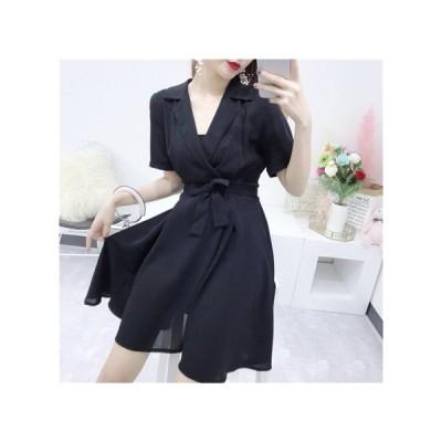 リボン ラップドレス 半袖 パーティードレス レディース ワンピース お呼ばれドレス kh-0904