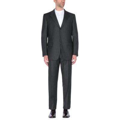 JASPER REED スーツ 鉛色 50 ウール 90% / カシミヤ 10% スーツ