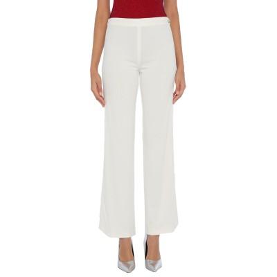 DIDIER PARAKIAN パンツ ホワイト 38 レーヨン 80% / ナイロン 20% パンツ