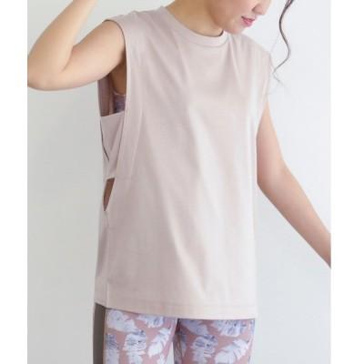 tシャツ Tシャツ 【NERGY×ALEXIA STAM】【UV&接触冷感】バックロゴノースリーブトップス