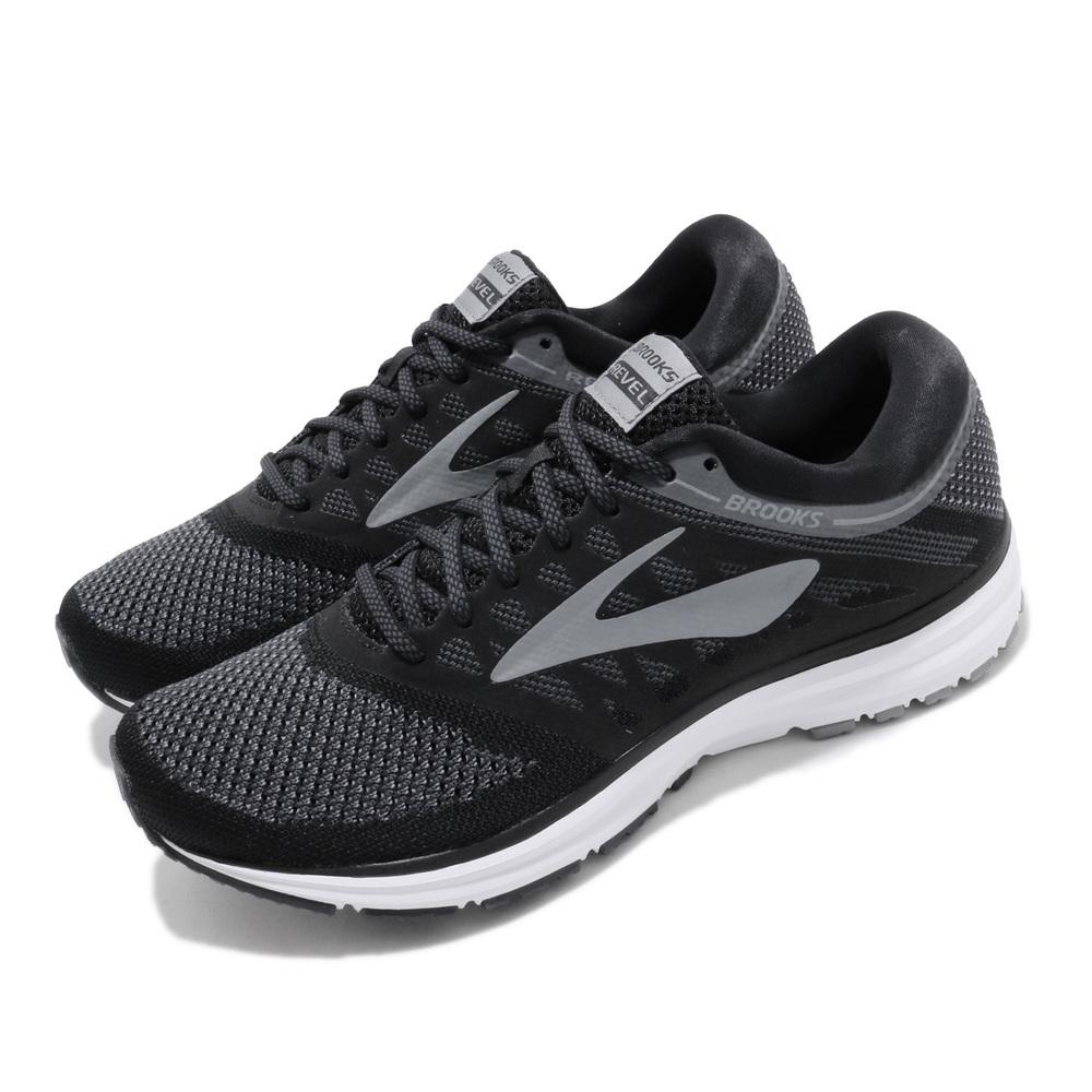 BROOKS 慢跑鞋 Revel 低筒 運動 男鞋 路跑 緩震 DNA科技 透氣 舒適 黑 灰 [1102601D002]
