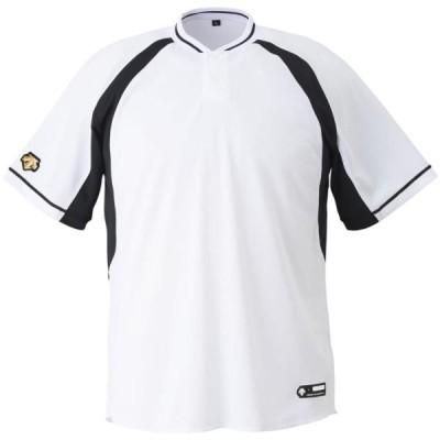 ベースボールTシャツ キッズ 野球シャツ キッズ 半袖 キッズ ジュニア 野球 2ボタンベースボールシャツ (DES)(QCB02)