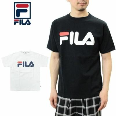 FILA フィラ ロゴ Tシャツ 半袖 FM9595 ロゴプリント メンズ レディース Half sleeve Tee shirts