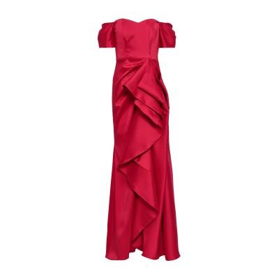BADGLEY MISCHKA ロングワンピース&ドレス レッド 2 ポリエステル 98% / ポリウレタン 2% ロングワンピース&ドレス