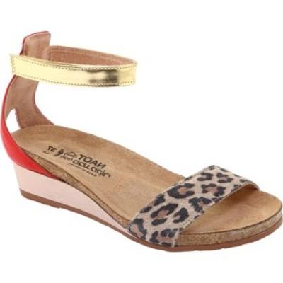 ナオト レディース サンダル シューズ Pixie Ankle Strap Sandal Cheetah/Kiss Red/Gold Leather/Suede