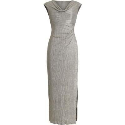 コネクテッド Connected レディース パーティードレス ワンピース・ドレス Textured Metallic Gown Stone Gray