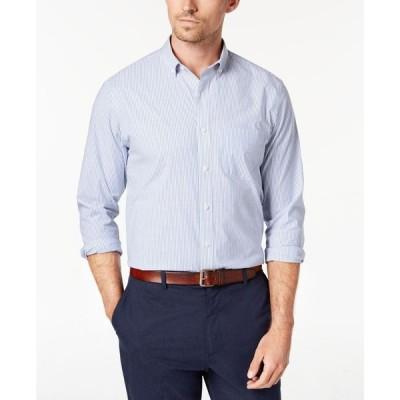 クラブルーム Club Room メンズ シャツ トップス Micro-Striped Cotton Shirt with Pocket Light Blue