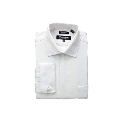 Stacy Adams Big & Tall Textured Solid Dress Shirt メンズ シャツ トップス White