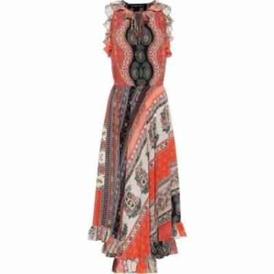 エトロ Etro レディース ワンピース ミドル丈 ワンピース・ドレス Printed silk midi dress Red