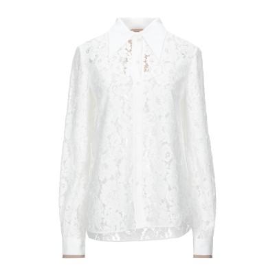 ヌメロ ヴェントゥーノ N°21 シャツ ホワイト 36 コットン 64% / ナイロン 21% / レーヨン 15% シャツ