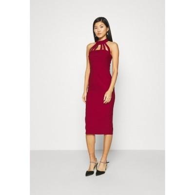 トレンドヨル ワンピース レディース トップス Cocktail dress / Party dress - burgundy