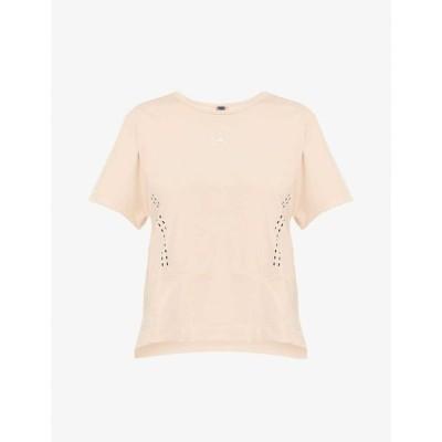 アディダス ADIDAS BY STELLA MCCARTNEY レディース Tシャツ トップス Truestrength stretch-recycled polyester T-shirt POWDER