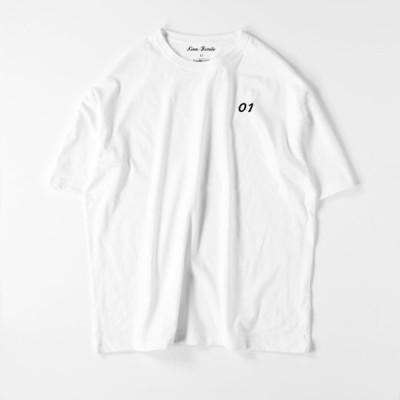 メンズ パパ ビッグシルエットTシャツ セミオーダー 半袖 クルーネック リンクコーデ 親子ペア