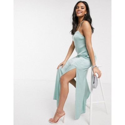 スカイラーローズ レディース ワンピース トップス Skylar Rose maxi slip dress with strappy back in satin