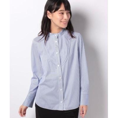 LA JOCONDE/ラ ジョコンダ ジャージー ストライプシャツ ブルーB 40