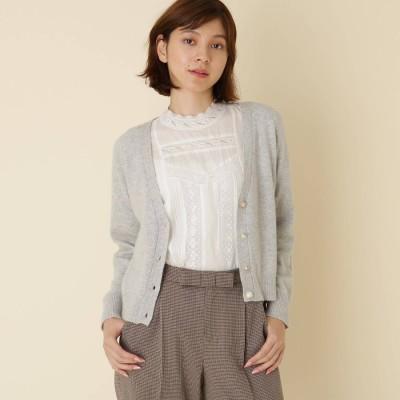 クチュール ブローチ Couture brooch 【WEB限定サイズ(LL)あり】Vネックカーディガン (グレー)