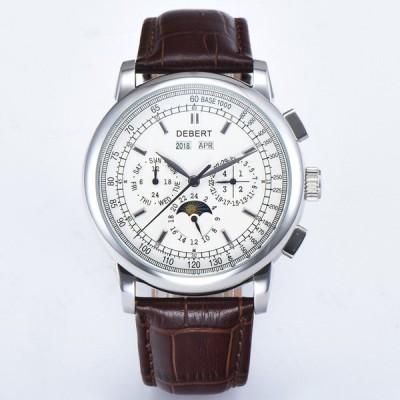 腕時計 日本未発売/オマージュウオッチ高級DEBERTムーンフェイズ ウォッチ