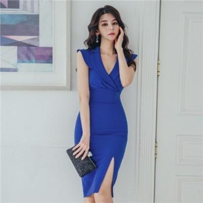 新作 タイトドレス ゲストドレス パーティードレス フォーマルドレス 韓国ワンピース 上品 OL。お出かけ 同窓会 入学式 卒業式などのセレ