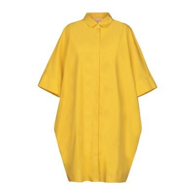ブライアン デールズ BRIAN DALES ミニワンピース&ドレス イエロー 38 100% コットン ミニワンピース&ドレス