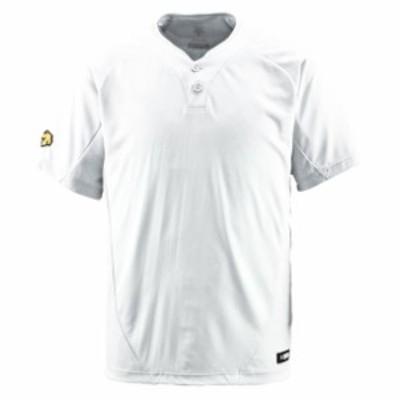 2ボタンTシャツ【DESCENTE】デサントヤキュウソフトハンソデTシャツ(DB201-SWHT)