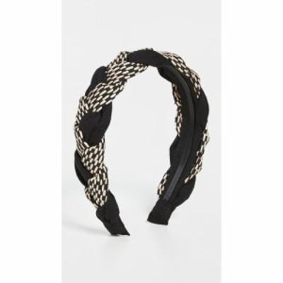 シャシ SHASHI レディース ヘアアクセサリー ヘッドバンド Mixed Braided Headband Black/White