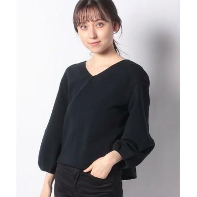 ANAYI/アナイ ダンボールVネックプルオーバー ネイビー5 36
