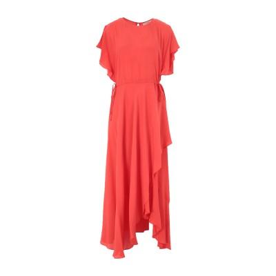 ツインセット シモーナ バルビエリ TWINSET 7分丈ワンピース・ドレス 赤茶色 48 レーヨン 66% / シルク 34% 7分丈ワンピース・