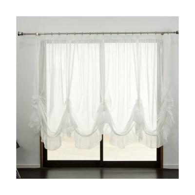 出窓用カーテン スタイルレース/トリコット/バルーン型175cm丈・掃出窓サイズ/製品サイズ:幅400×丈175最長部 Z3K