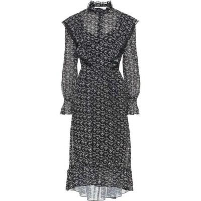 クロエ See By Chloe レディース ワンピース ミドル丈 ワンピース・ドレス printed crepe midi dress Black/White