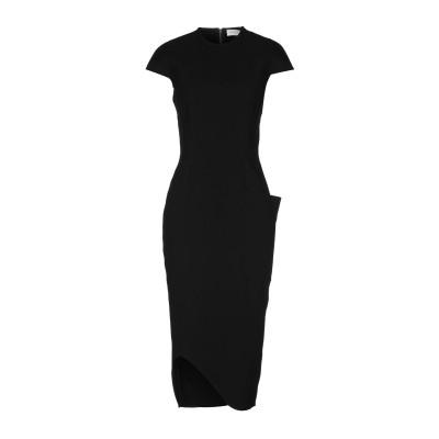 VICTORIA BECKHAM 7分丈ワンピース・ドレス ブラック 14 トリアセテート 70% / ポリエステル 30% 7分丈ワンピース・ドレス