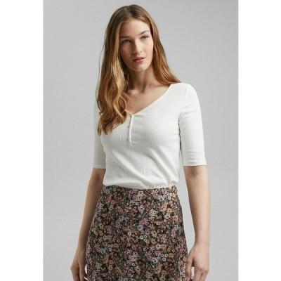 イー ディ シー バイ エスプリ Tシャツ レディース トップス Print T-shirt - off-white