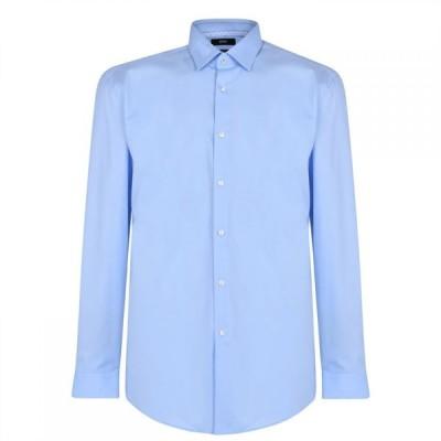 ヒューゴ ボス Boss メンズ シャツ トップス Hugo Plain Shirt With Trim Sky Blue