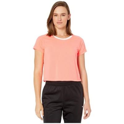 プーマ PUMA レディース Tシャツ ロゴTシャツ トップス logo graphic tee Pink Alert