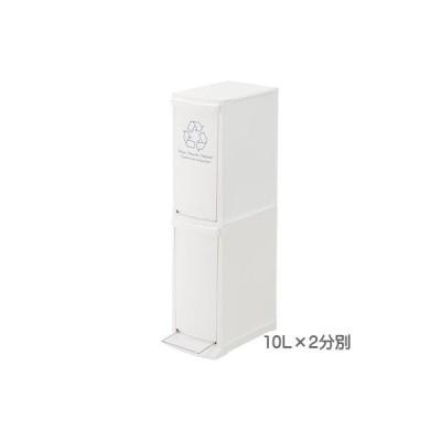 ゴミ箱 おしゃれ ダストボックス ふた付き ダストボックス 2分別 20L(10L×2段) ゴミ箱 長方形 かわいい 日本製
